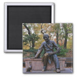 Hans Christian Andersen, Central Park, NYC 2 Inch Square Magnet