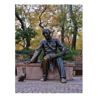 Hans Christian Andersen, Central Park, NYC Postales