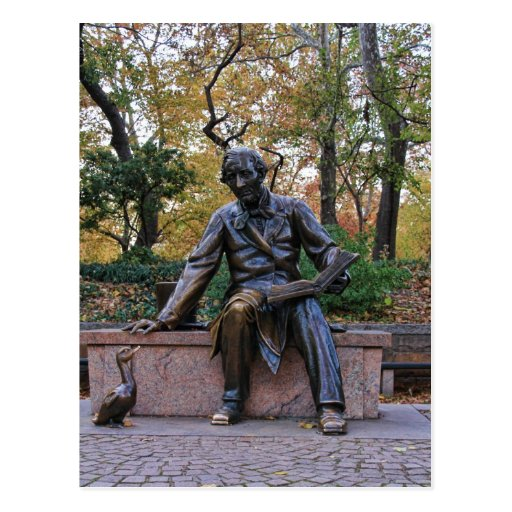 Hans Christian Andersen, Central Park, NYC Postcards
