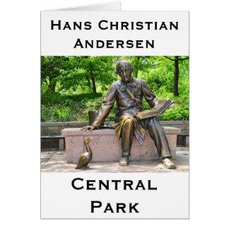 Hans Christian Andersen in Central park Card