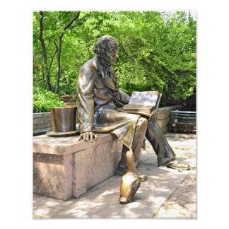 Hans Christian Andersen in Central park Photo Art