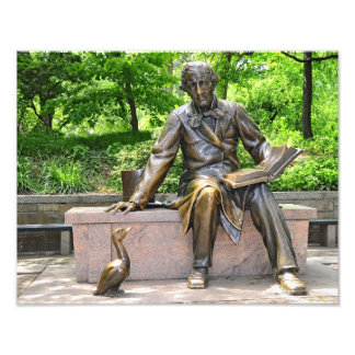 Hans Christian Andersen in Central park Art Photo