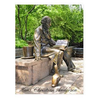 Hans Christian Andersen in Central park Postcard
