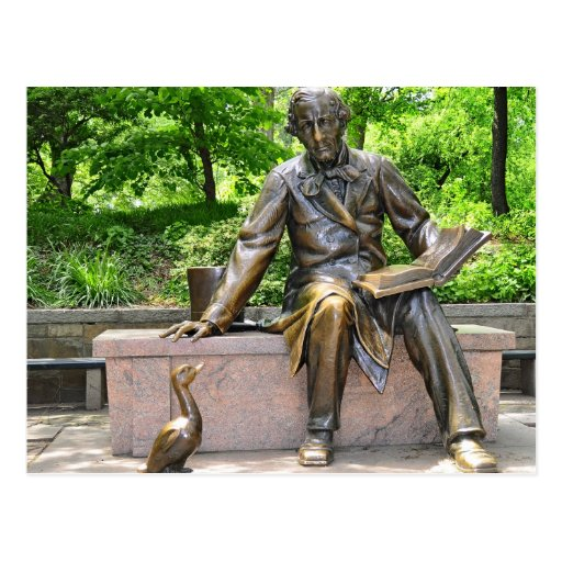 Hans Christian Andersen in Central park Post Cards