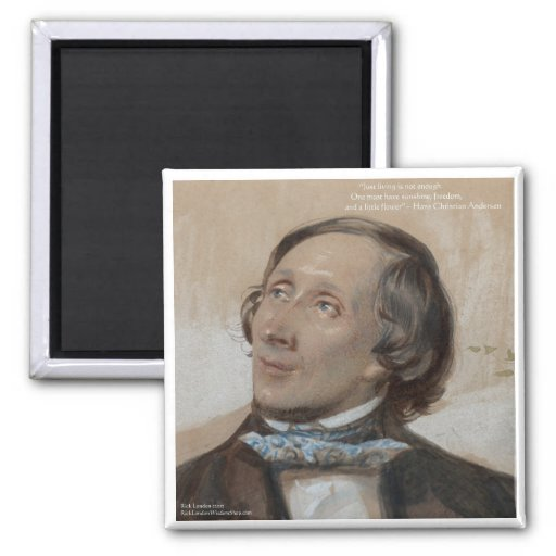 "Hans Christian Andersen ""Sunshine Freedom"" Gifts Refrigerator Magnet"