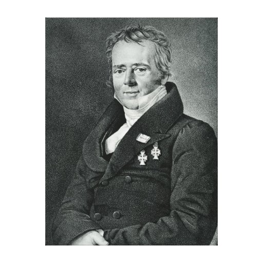 Hans Christian Orsted, engraved by Kaufmann Canvas Print