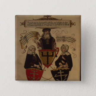 Hans Fugger two wives Clara Widolf and Elisabeth Pinback Button