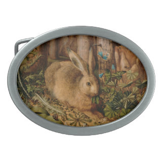 Hans Hoffmann A Hare In The Forest Belt Buckle