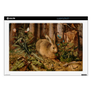 Hans Hoffmann A Hare In The Forest Laptop Decals