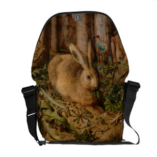 Hans Hoffmann A Hare In The Forest Messenger Bag