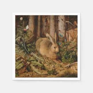 Hans Hoffmann A Hare In The Forest Napkin