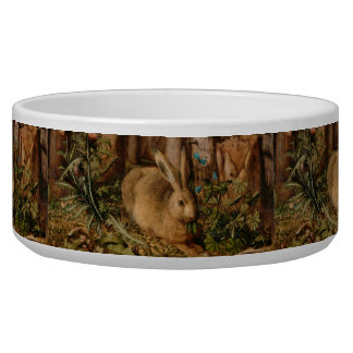 Hans Hoffmann A Hare In The Forest Pet Bowls