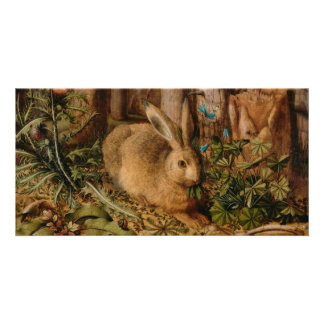 Hans Hoffmann A Hare In The Forest Personalized Photo Card