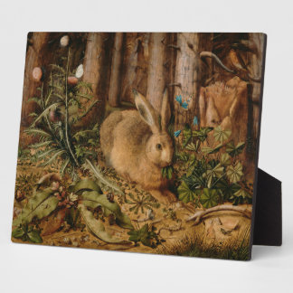 Hans Hoffmann A Hare In The Forest Plaque