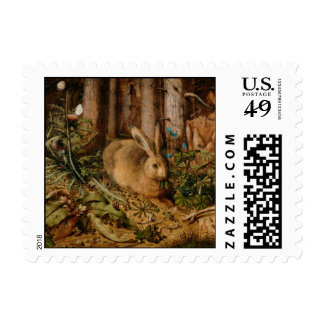 Hans Hoffmann A Hare In The Forest Postage