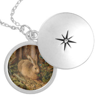 Hans Hoffmann A Hare In The Forest Round Locket Necklace