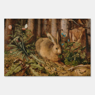 Hans Hoffmann A Hare In The Forest Sign