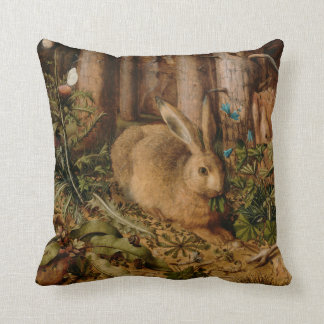 Hans Hoffmann A Hare In The Forest Throw Pillow