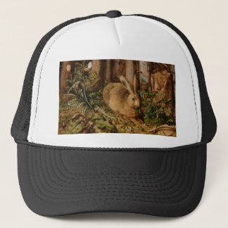 Hans Hoffmann A Hare In The Forest Trucker Hat