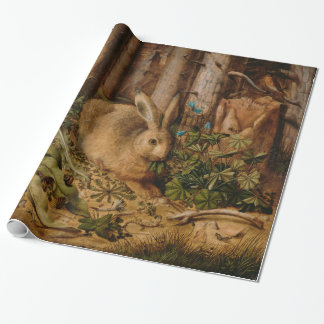 Hans Hoffmann A Hare In The Forest Vintage Art Wrapping Paper