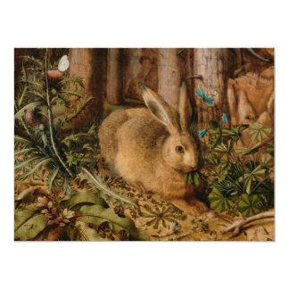 """Hans Hoffmann una liebre en el bosque Invitación 6.5"""" X 8.75"""""""