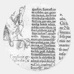 Hans Holbein - ejemplo marginal para Erasmus Pegatinas Redondas