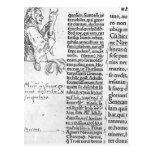 Hans Holbein - ejemplo marginal para Erasmus Tarjetas Postales