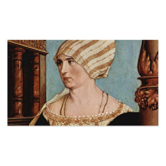 Hans Holbein el Dorothea más joven Kannengiesser Tarjetas De Negocios