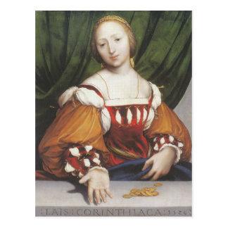 Hans Holbein el Lais más joven Corinthiaca Tarjeta Postal