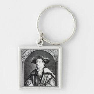 Hans Holbein el más joven Llavero Cuadrado Plateado