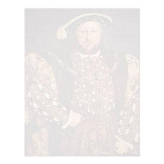 Hans Holbein el retrato más joven del Enrique VIII Membrete