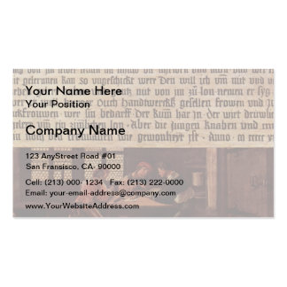 Hans Holbein-Explanation of Meaning of a Letter Business Card Template