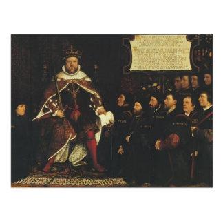 Hans Holbein-Henry VIII handing over a charter Postcard