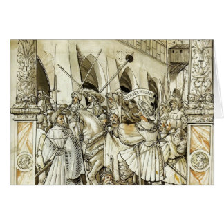 Hans Holbein- Humiliation of the Emperor Valerian Greeting Cards