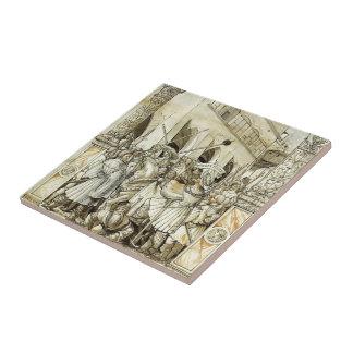 Hans Holbein- Humiliation of the Emperor Valerian Ceramic Tiles