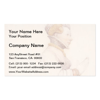 Hans Holbein- Jeanne de Boulogne, Duchess of Berry Double-Sided Standard Business Cards (Pack Of 100)