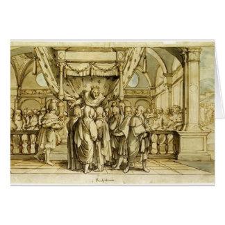 Hans Holbein la Joven-Arrogancia de Rehoboam Tarjeta