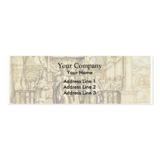 Hans Holbein la Joven-Arrogancia de Rehoboam Tarjeta De Visita