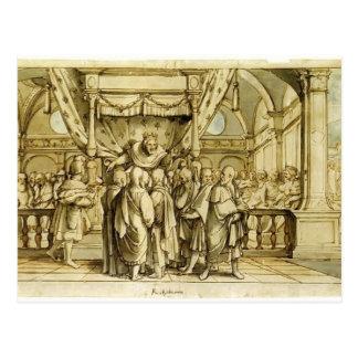 Hans Holbein la Joven-Arrogancia de Rehoboam Tarjeta Postal