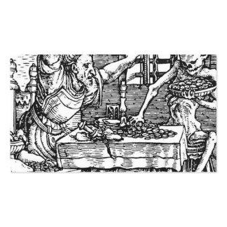 Hans Holbein la muerte más joven y el Miser Plantilla De Tarjeta De Negocio