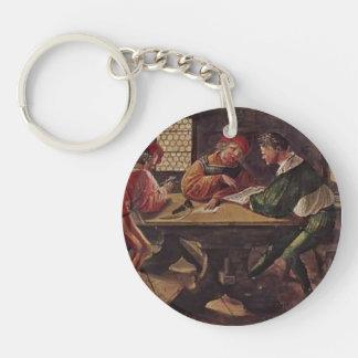 Hans Holbein - letrero para un profesor Llavero Redondo Acrílico A Una Cara