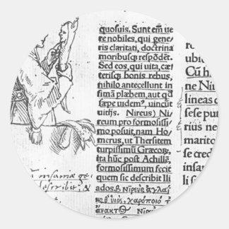 Hans Holbein - Marginal illustration for Erasmus Stickers