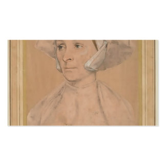 Hans Holbein- Portrait of an Englishwoman Business Card Templates