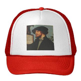 Hans Holbein - Portrait of Bonifacius Amerbach Mesh Hat