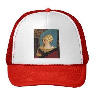 Hans Holbein- Portrait of Doprothea Meye Trucker Hats