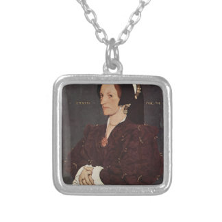 Hans Holbein- Portrait of Margaret Wyatt, Lady Lee Silver Plated Necklace