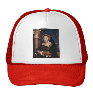 Hans Holbein- Portrait of Mary Wotton Hat