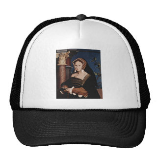 Hans Holbein- Portrait of Mary Wotton Mesh Hats