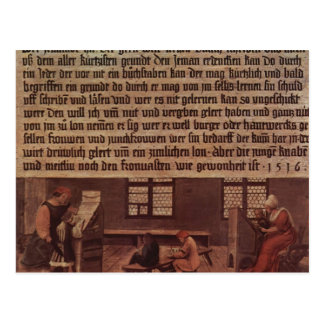 Hans Holbein- Principles of a schoolmaster Post Card