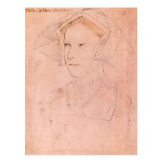 Hans Holbein Queen Mary más joven I Tudor Postales